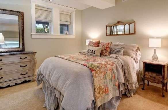 Downstairs bedroom at Bee's Knees Vacation Rental San Luis Obispo
