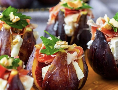 Fresh Fig and Cheese Canapes